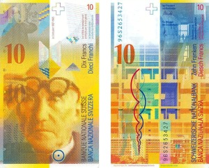 Swiss currency - 10 Francs - Le corbusier